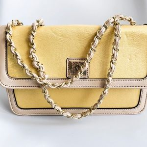 Anne Kline yellow mini tote